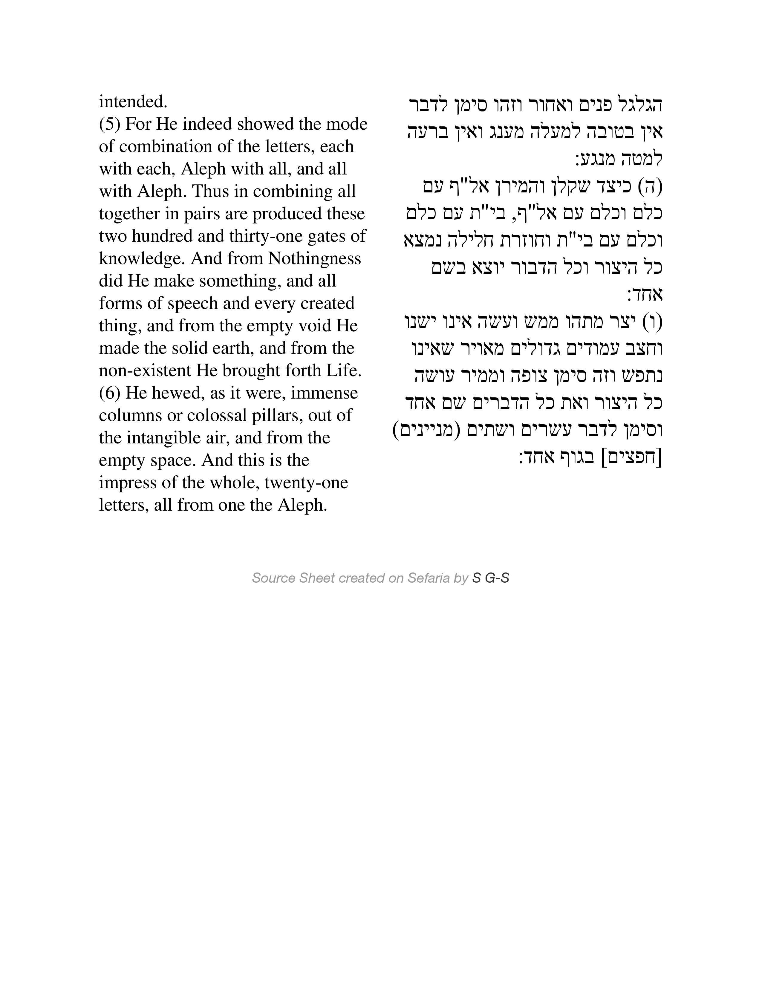 Sefer Yetzirah 2