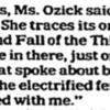 Cynthia Ozick Interview Excerpt